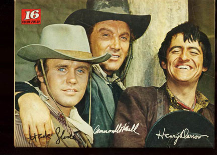 Mark Slade, Cameron Mitchell, Henry Darrow in The High Chaparral