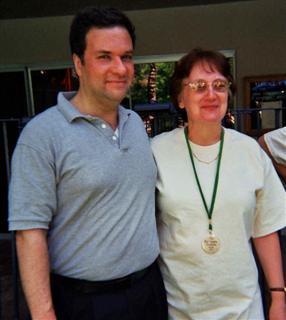 Andy Klyde and Denise Billen-Meija at the  2003 High Chaparral Reunion