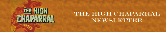 The High Chaparral Newsletter Banner