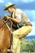 Mounting a horse on The High Chaparral